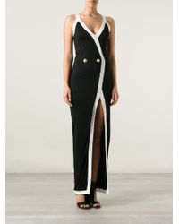 Balmain Long Fitted Dress - Lyst