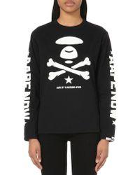 Aape - Logo-print Cotton-jersey Sweatshirt - Lyst