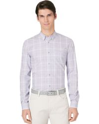 Calvin Klein Exploded Ombre Plaid Shirt - Lyst