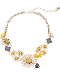 Betsey Johnson Flower Child Necklace Daisy Cluster - Lyst