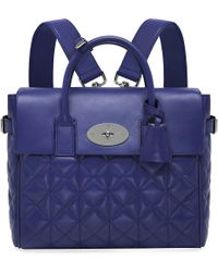 Mulberry Mini Cara Quilted Nappaleather Backpack Indigo - Lyst