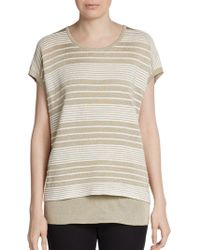 Lafayette 148 New York Stripeseam Layered Pullover - Lyst