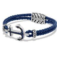 David Yurman PavÉ Anchor Bracelet blue - Lyst