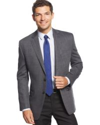 Calvin Klein Black and Grey Slim-fit Sport Coat - Lyst