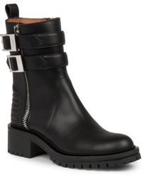 Givenchy Nidra Leather Ankle Boots - Lyst