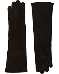 Barneys New York | Whipstitched Suede Gloves | Lyst