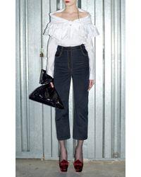 Isa Arfen - Velvet Denim Jeans - Lyst