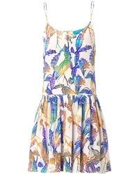Matthew Williamson Escape Woodcutprint Silk Dress - Lyst