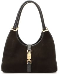 Gucci Dark Brown Suede Handbag brown - Lyst