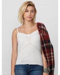 Denim & Supply Ralph Lauren Beige Lace-trimmed Camisole - Lyst