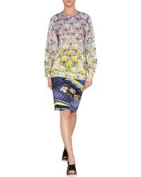 Mary Katrantzou Silk Jersey Sneaker Print Pencil Skirt - Lyst