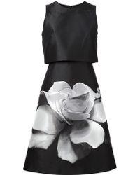 Carolina Herrera Floral Print A-Line Dress - Lyst