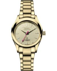 Vivienne Westwood Vv111gd Time Machine Stainless Steel Watch - Lyst