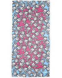 Diane von Furstenberg Hanovar Poppy Printed Scarf - Lyst