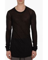 Rick Owens | Black Jersey Asymmetric T-shirt | Lyst
