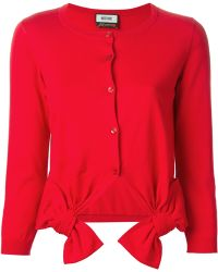 Moschino Bow Detail Cardigan - Lyst
