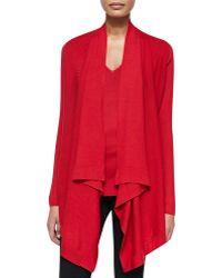 Donna Karan New York Long-Sleeve Drape-Front Cozy - Lyst