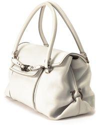 Ferragamo Ivory Shoulder Bag - Lyst