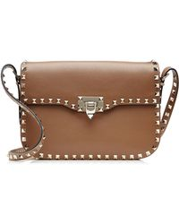 Valentino Leather Rockstud Shoulder Bag - Lyst