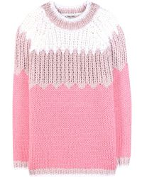 Miu Miu Chunky Wool Sweater - Lyst