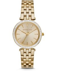 Michael Kors Mini Darci Goldtone Stainless Steel Glitz Bracelet Watch - Lyst