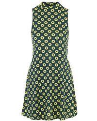 Topshop Scandi Flower Print Tunic Dress green - Lyst
