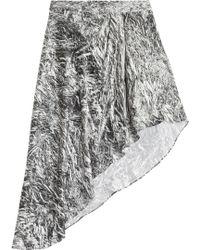 McQ by Alexander McQueen Asymmetric Silk Skirt - Lyst