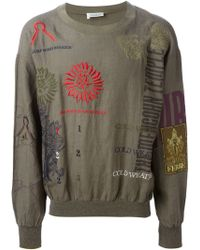 Gianfranco Ferré Vintage Embroidered Cotton-Linen Sweater - Lyst