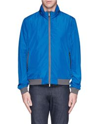 Armani Retractable Hood Packable Blouson Jacket - Lyst