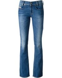 Diesel Flared Low Rise Jeans - Lyst