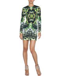 Nicole Miller Patterned Mini Dress - Lyst
