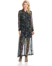 Kensie Patterned Illusion Maxi Dress - Lyst