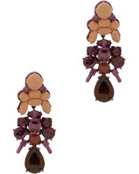 EK Thongprasert | 3tier Drop Round Jewel Earring | Lyst