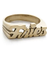 Snash Jewelry - Fries Ring - Gold - Lyst