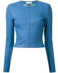 Scanlan Theodore - Cropped Leather Jacket - Lyst