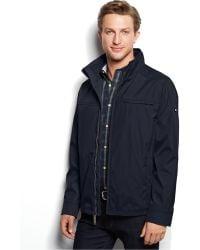 Calvin Klein 3 Seasons Weather-Resistant Coat blue - Lyst