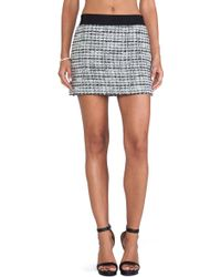 Milly Featherweight Italian Tweed Mini Skirt - Lyst