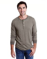 Lucky Brand Micro Stripe Henley - Lyst