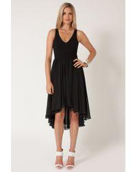 Bcbgmaxazria Francis Layered Ruffle Dress In Black Lyst