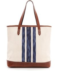 Madewell Striped Transport Tote - Lyst
