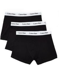 Calvin Klein 3 Pack Trunk black - Lyst