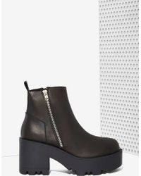 Nasty Gal Unif Rival Leather Platform Boot - Lyst