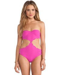Marysia Swim Cut Out Scallop One Piece - Lyst