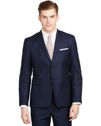 Brooks Brothers Stripe Classic Suit - Lyst