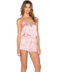 Beach Bunny - Damascus Seas Jumpsuit - Lyst