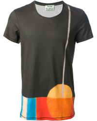 Acne Black Printed Tshirt - Lyst
