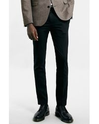 Topman Men'S Ultra Skinny Black Suit Trousers - Lyst
