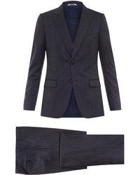 Dolce & Gabbana Three-Piece Wool Suit blue - Lyst