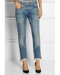 Rag & Bone The Dre Mid-rise Slim Boyfriend Jeans - Lyst