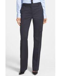 Boss by Hugo Boss Boss 'Taliani' Pinstripe Stretch Wool Trousers - Lyst
